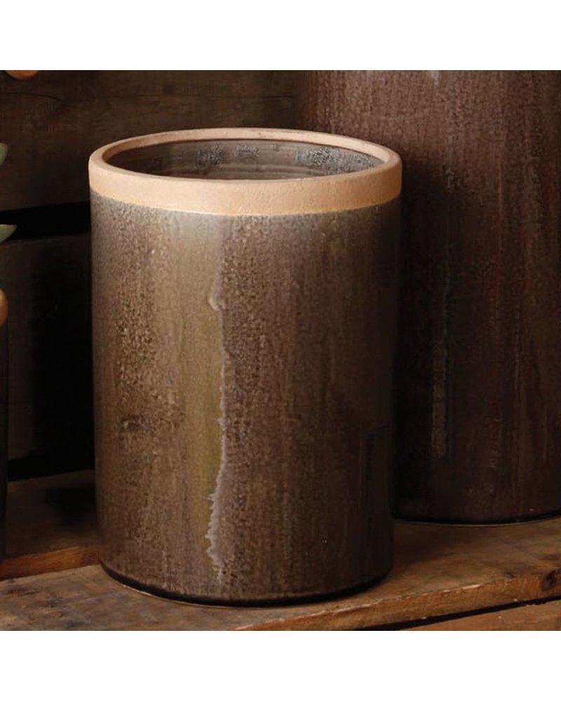 HomArt Mulberry Ceramic Cylinder Vase - Med - Espresso