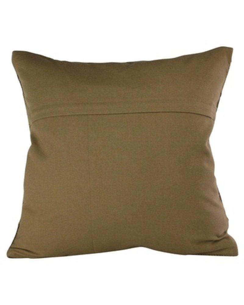 HomArt Heritage Kilim Pillow - Sqr-Brown / Ivory Chevron