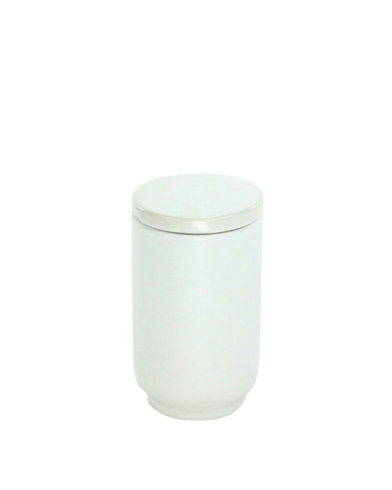 HomArt Luna Ceramic Cup with Lid - Matte White
