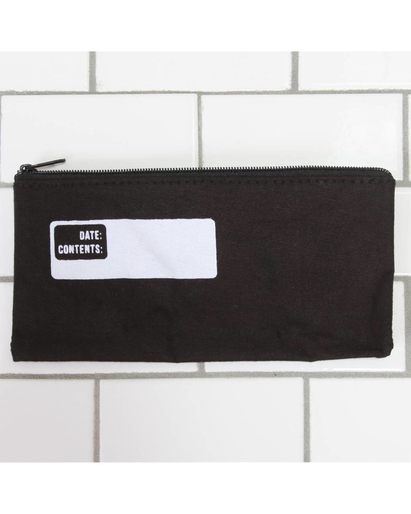 HomArt Canvas Zipper Bag with Logo - Pencil - Black