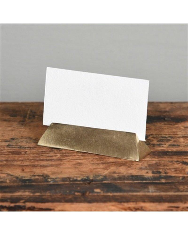 HomArt Brass Cast Iron Triangle Bar Place Card Holder