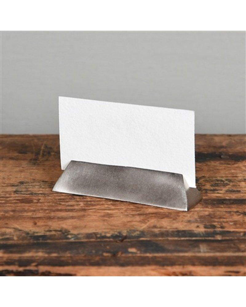 HomArt Nickel Cast Iron Triangle Bar Place Card Holder