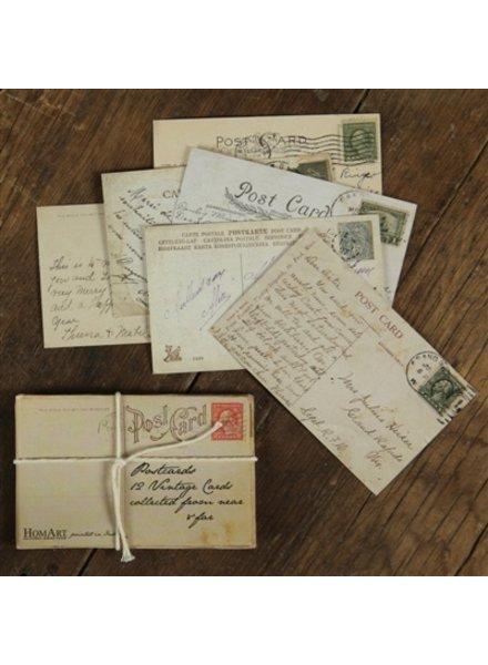 HomArt Vintage Postcards - Pack of 12