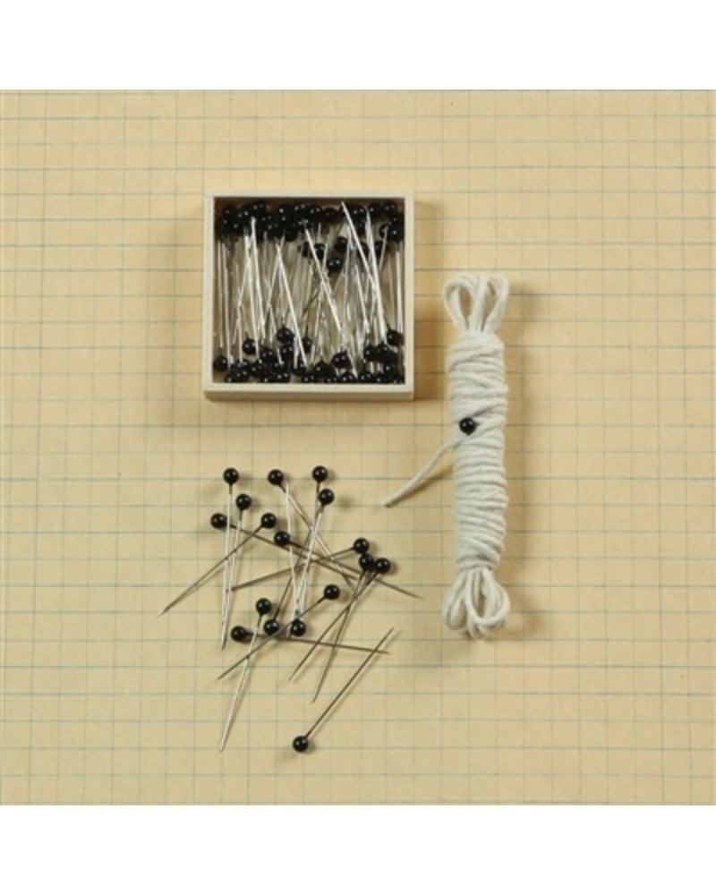 HomArt Black Head Push Pins - Box of 100 - Black