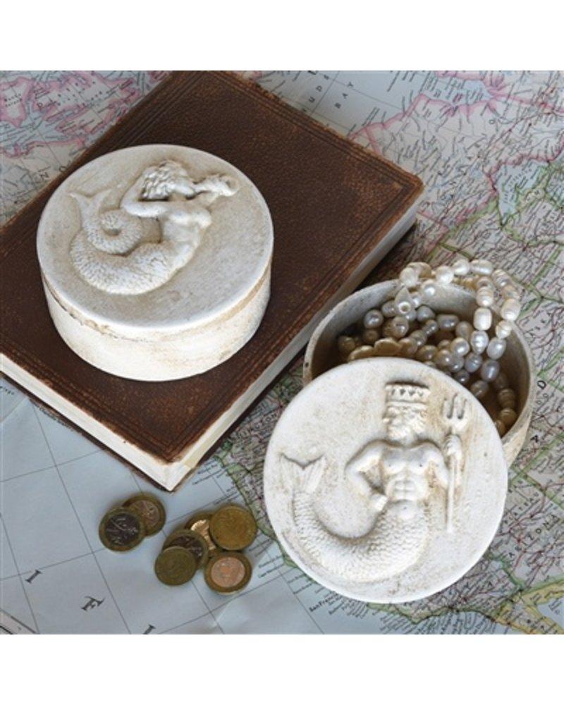 HomArt Mermaid Round Ceramic Box