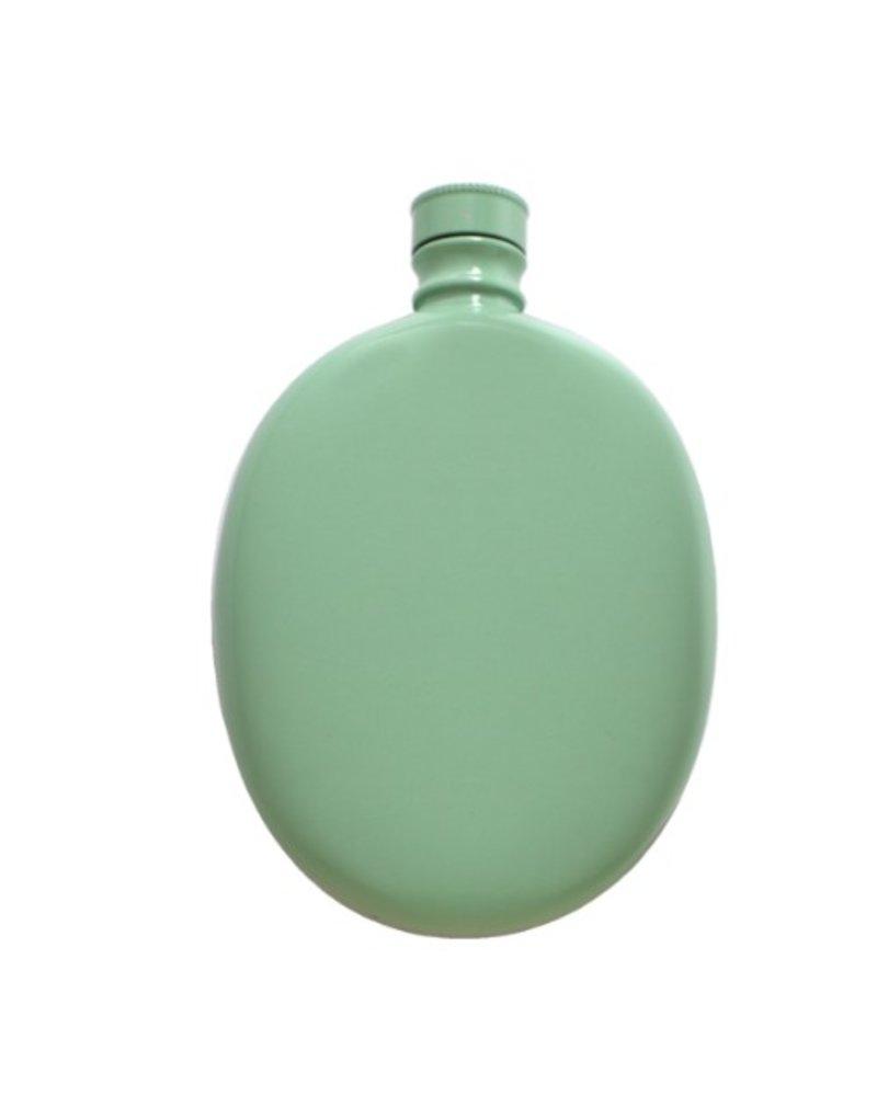 Oval Flask - Aqua