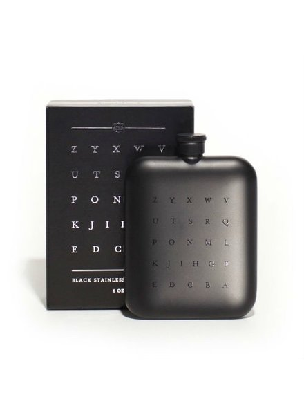 ZYX Black Stainless Steel Flask