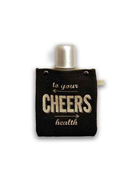 Clay Company Cheers Canvas Flask 4oz