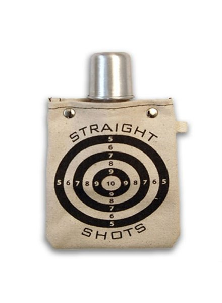 Clay Company Straight Shot Canvas Flask 4oz
