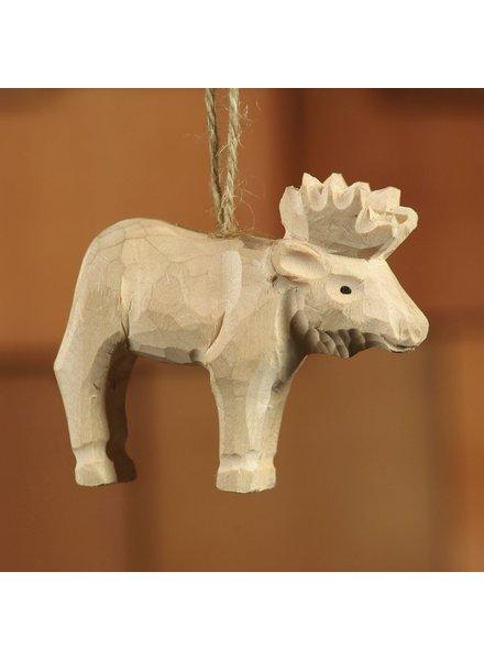 HomArt Carved Wood Ornament - Moose Set of 3