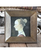 HomArt Erica Cast Metal Photo Frame - Brass - Sqr 4x4