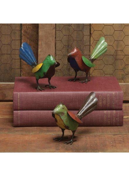 HomArt Reclaimed Metal Birds - Assorted Colors