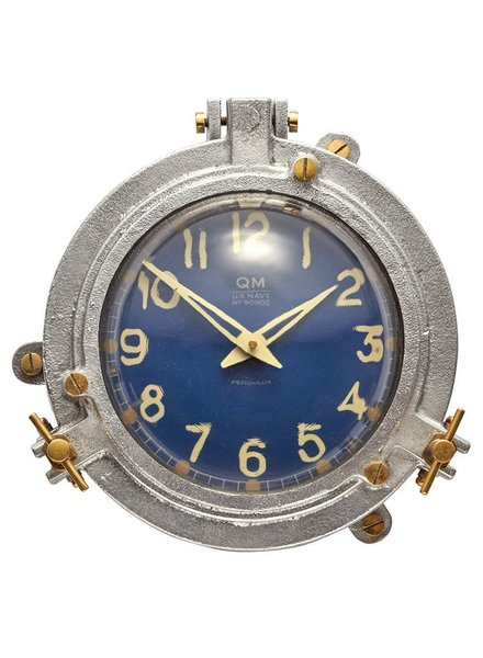 Pendulux Quartermaster Wall Clock Blue
