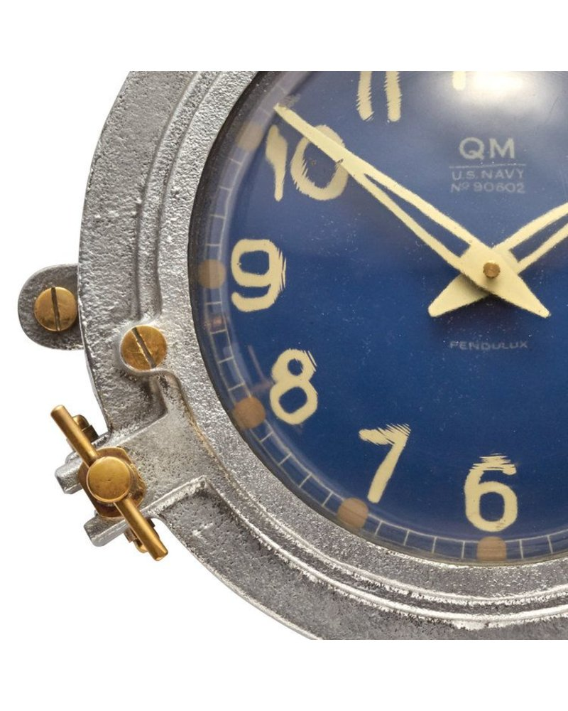 Pendulux Quartermaster Wall Clock Blue