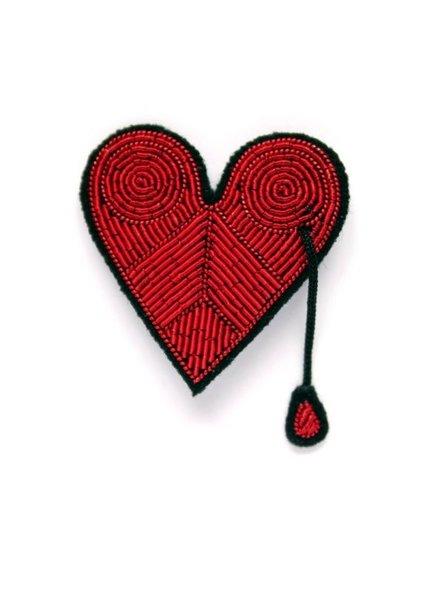 Macon & Lesquoy Pins Injured Heart Pin