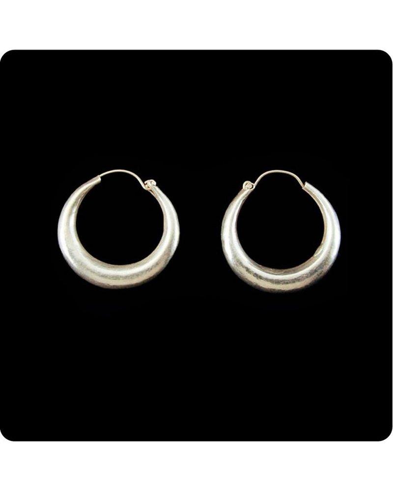 Zig Zag Asian Collection Hollow Hoop Earrings