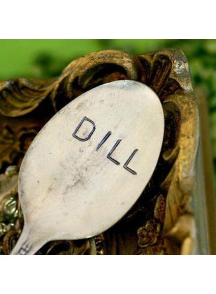 "Monkeys Always Look ""Dill"" Stamped Spoon"