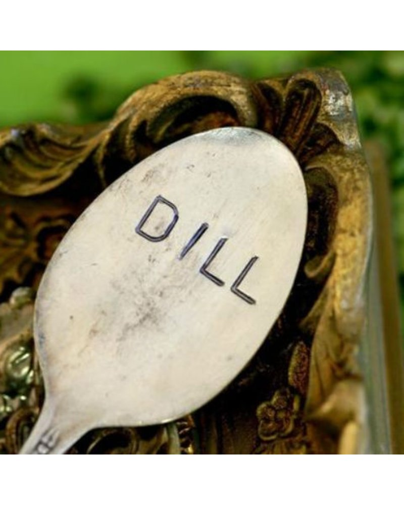 "Monkeys Always Look ""Dill"" Stamped Spoon"