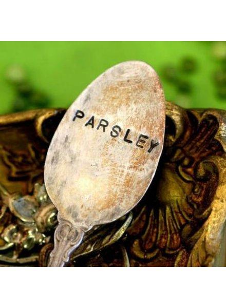"""Monkeys Always Look """"Parsely"""" Stamped Spoon"""