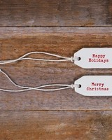 HomArt Ceramic Tag - Happy Holidays