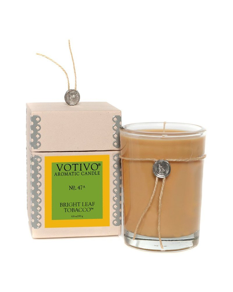 Bright Leaf Tobacco Votivo Candle
