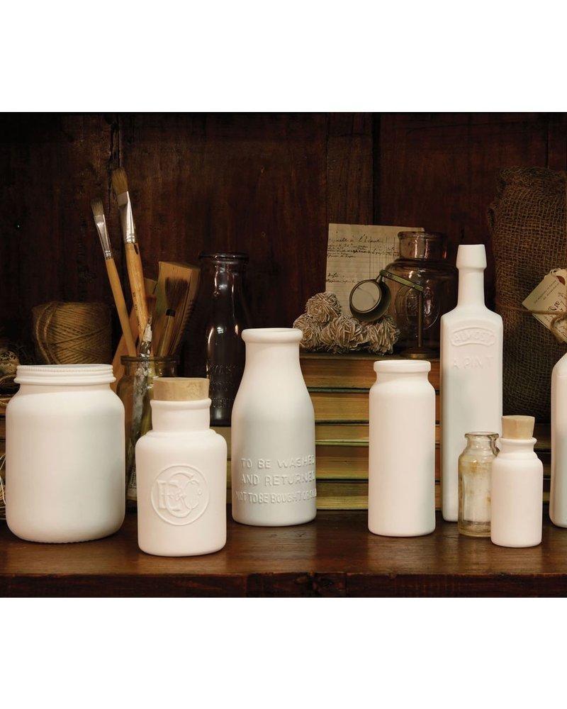 HomArt Bone China Canning Jar with Lid - White
