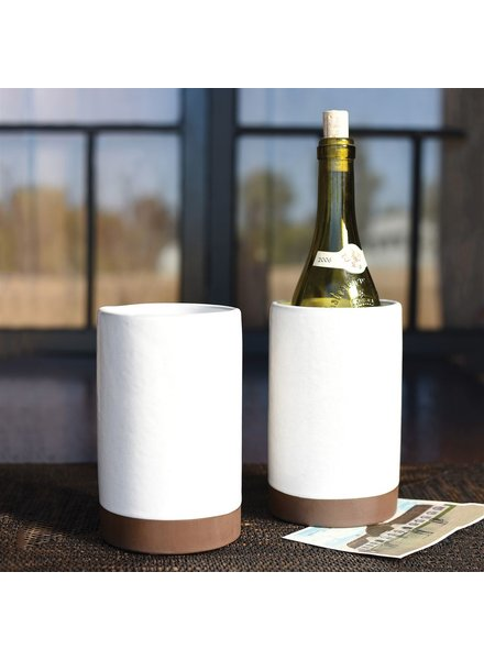 HomArt Liam Ceramic Wine Cooler - Partial Glaze