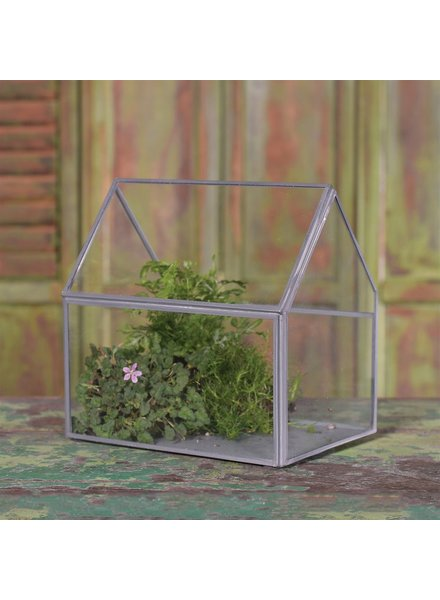 HomArt Pierre Cottage Glass Terrarium - Medium