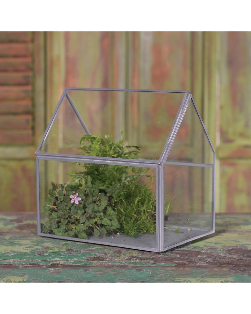 HomArt Pierre Cottage Glass Terrarium - Medium