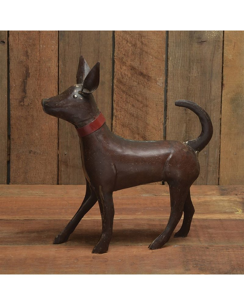 HomArt Reclaimed Metal Walking Dog - Small, Rust