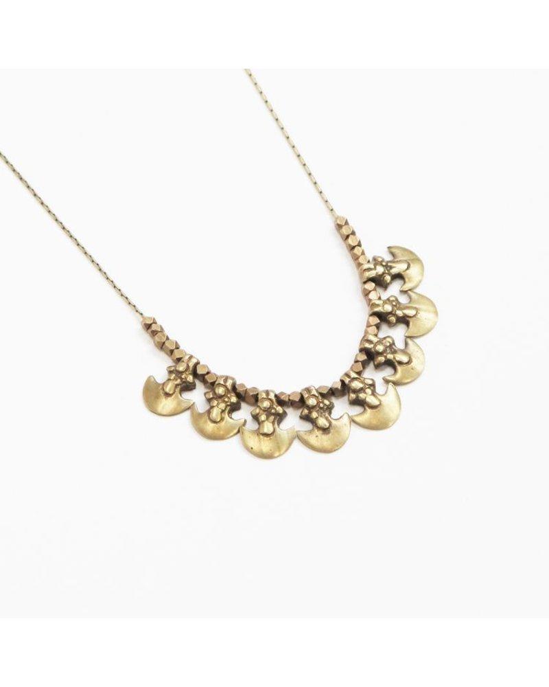 Marisa Mason Salt Flats Brass Necklace