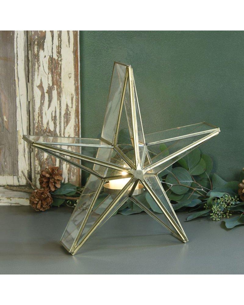 HomArt Glass Star Candle Holder - Med