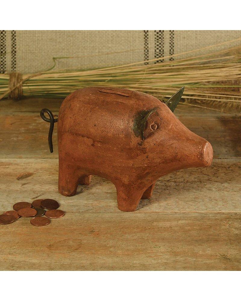 HomArt Terra Cotta Pig Bank