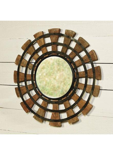 HomArt Cayden Round Wood Mirror