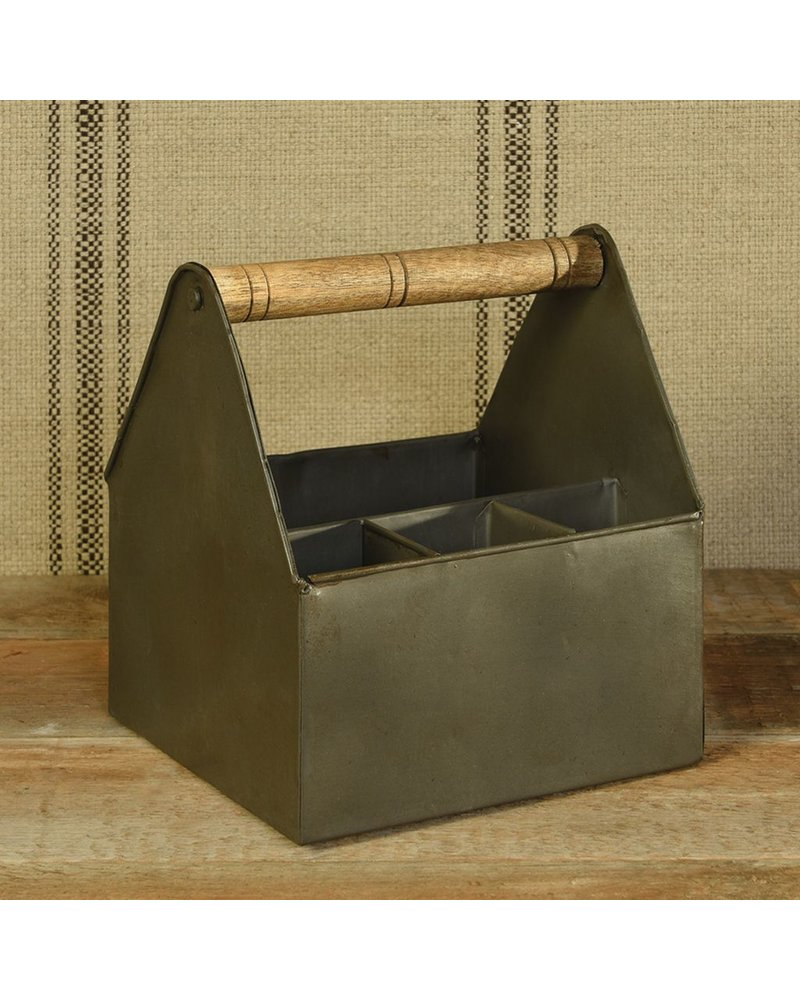 HomArt Flatware Caddy with Wood Handle