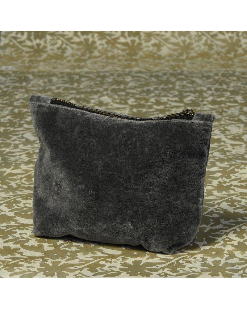 HomArt Velvet Zipper Pouch