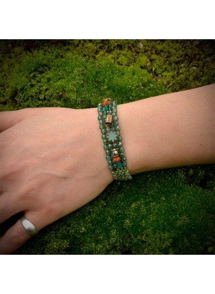 Pixie & Corelli Sea Blue Beaded Charm Bracelet