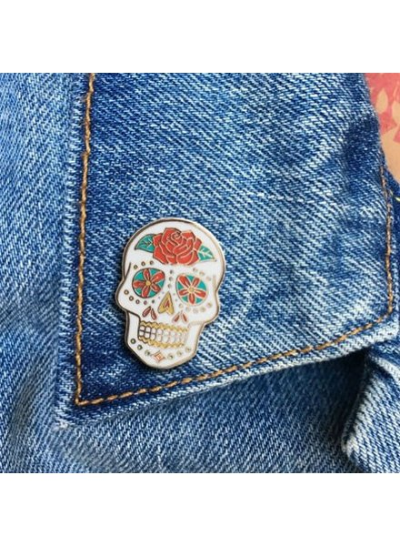 The Found Cards & Gifts Sugar Skull Enamel Pin