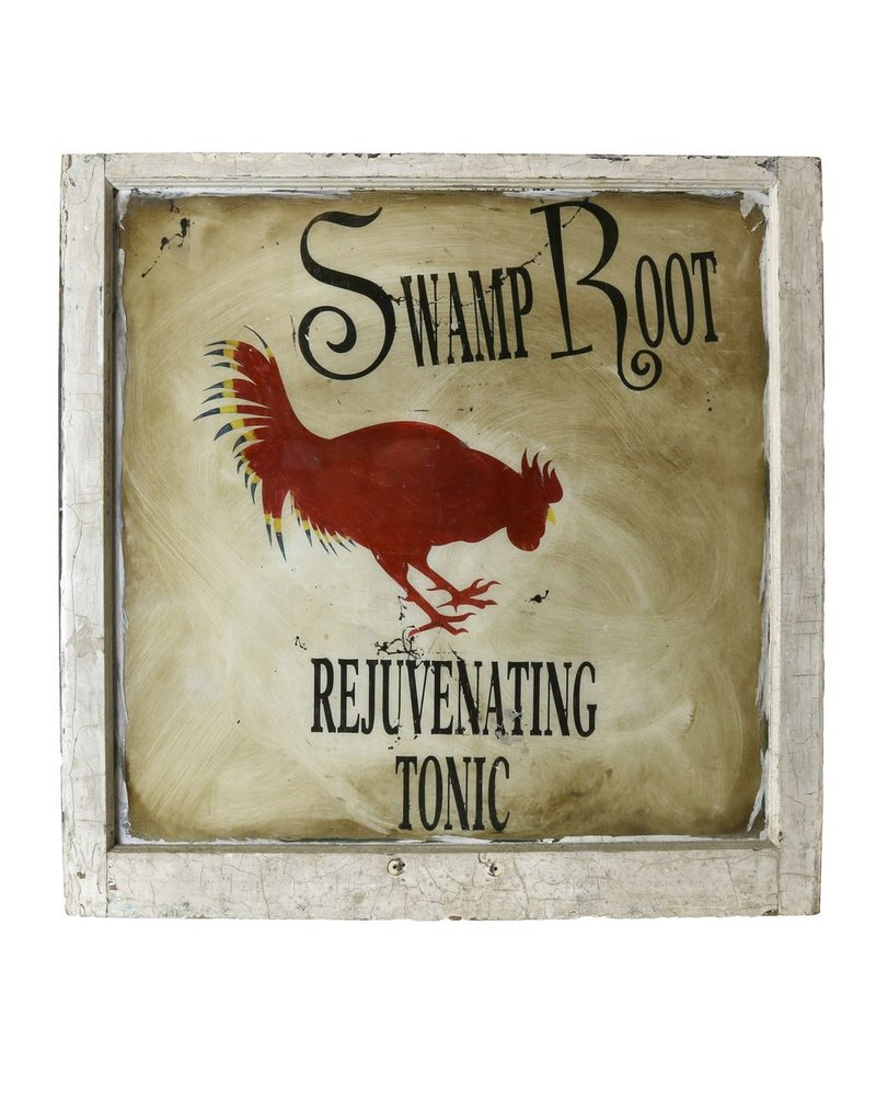 Vintage Window Art - Swamp Root Tonic