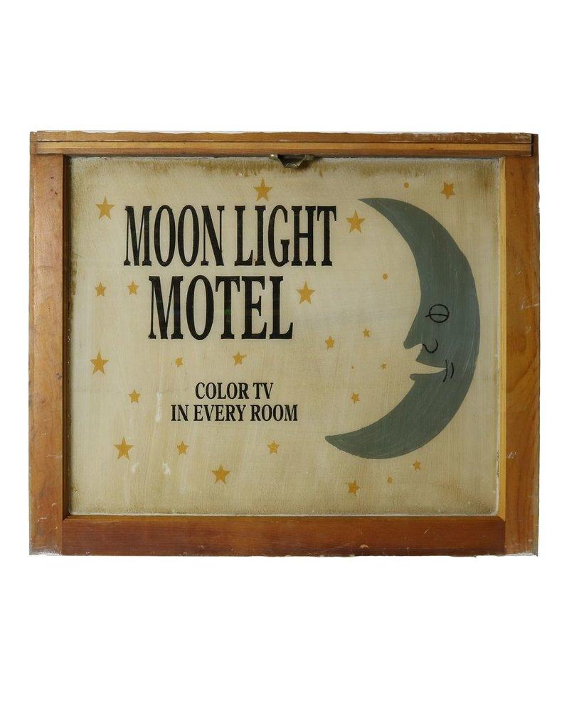 Vintage Window Art - Moon Light Motel