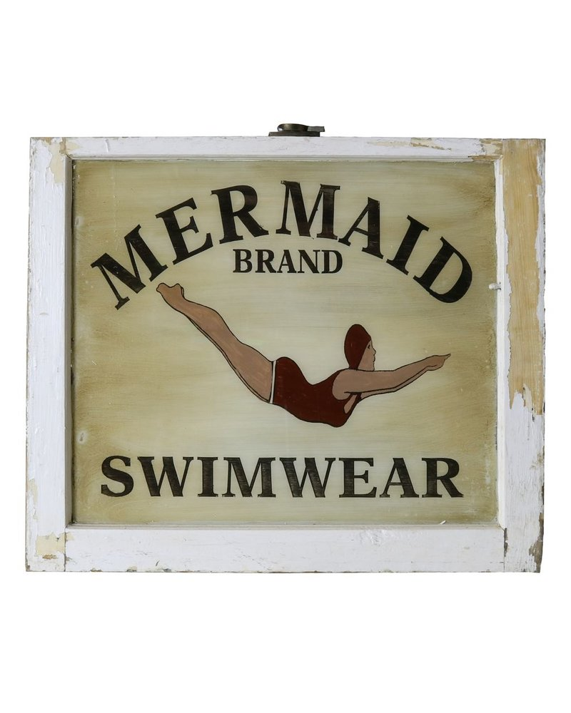 Vintage Window Art - Mermaid Swimwear