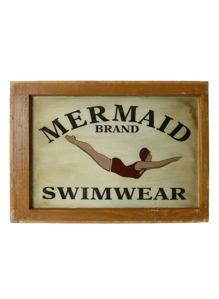 Vintage Window Art - Mermaid Swimwear
