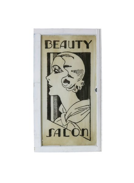 Vintage Window Art - Beauty Salon