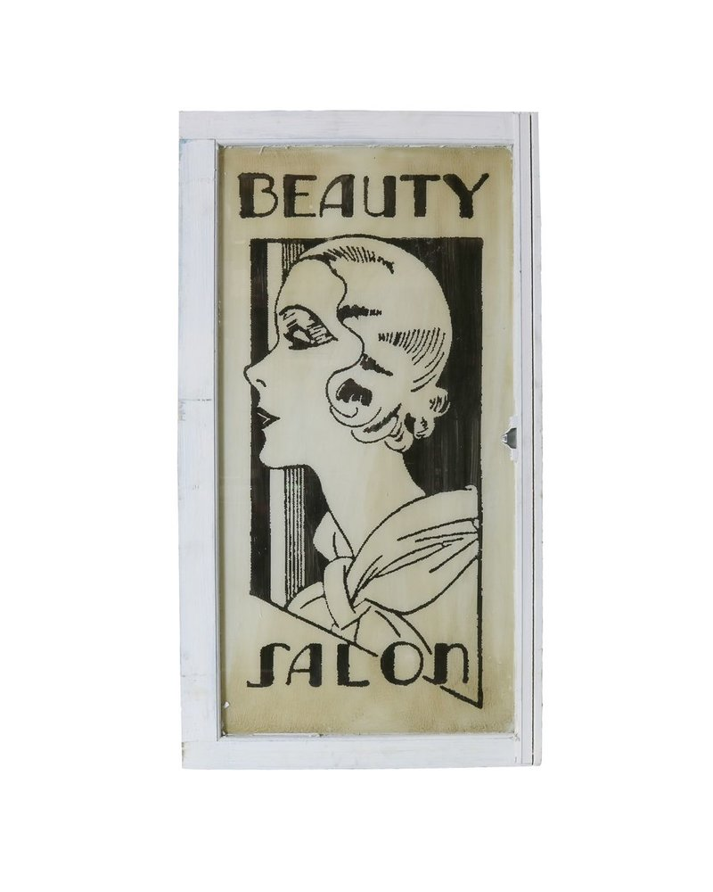Vintage Window Art - Beauty Salon