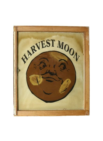 VIntage Window Art - Harvest Moon