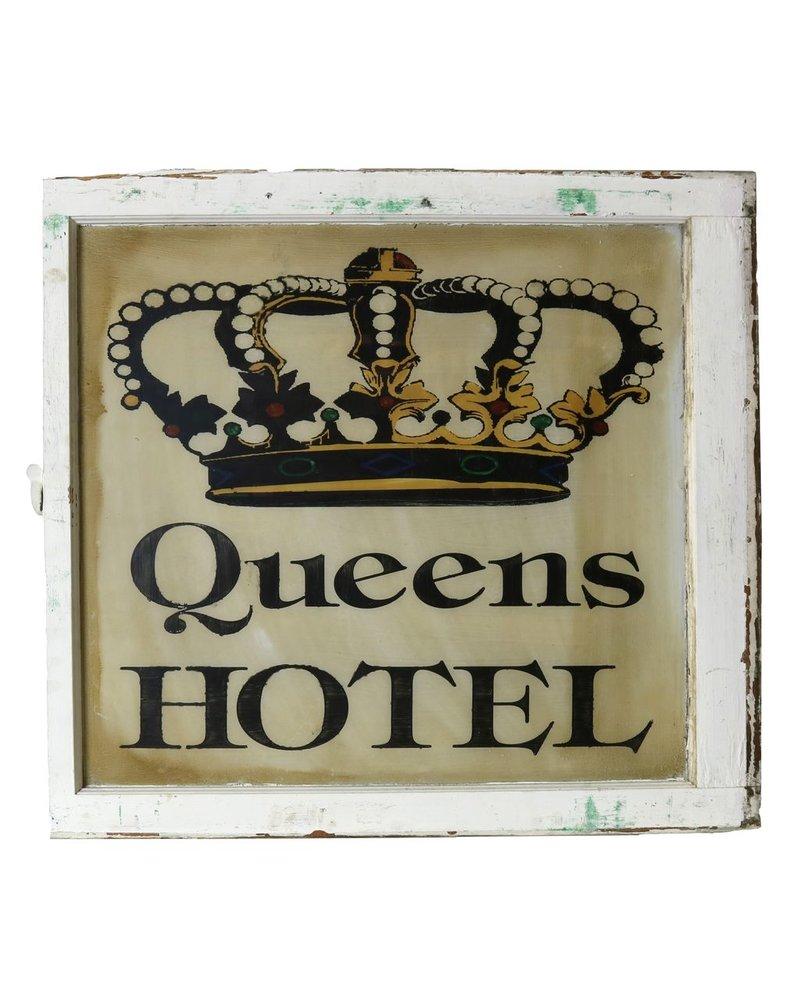 Vintage Window Art - Queens Hotel