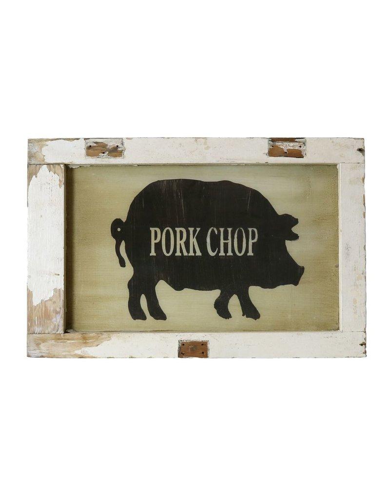 Vintage Window Art - Pork Chop