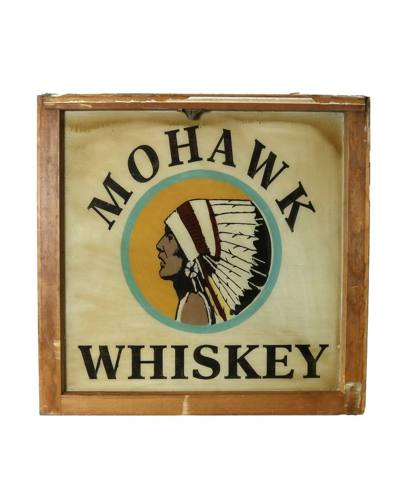 VIntage Window Art - Mohawk Whiskey
