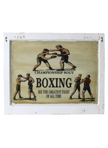 VIntage Window Art - Boxing
