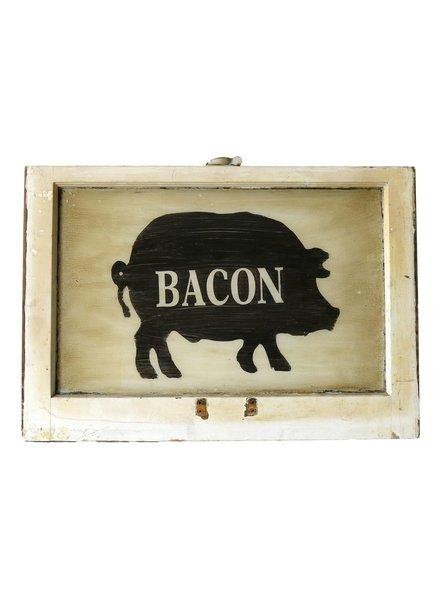 Vintage Window Art - Bacon